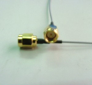 SMA st. plug for 1.13(gold)